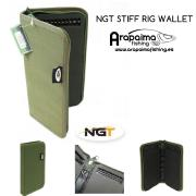 Carpeta para Bajos NGT STIFF RIG WALLET WITH PINS